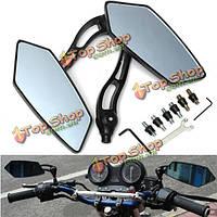 Мотоцикл скутер M8 M10 заднего боковые зеркала синие алюминиевые черный универсальный