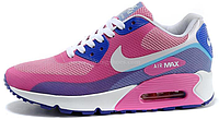 Женские кроссовки Nike Air Max 90 Hyperfuse Premium (найк аир макс 90) розовые