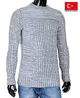Теплый молодежный свитер из меланжированной пряжи.Зимнме кофты и свитера.