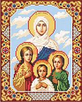 Вышивка бисером Вера, Надежда, Любовь и мать их Софья
