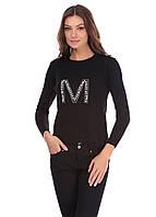 Модная женская кофта черного цвета