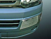 Накладки на передний бампер (уголки) VW T5 2010+