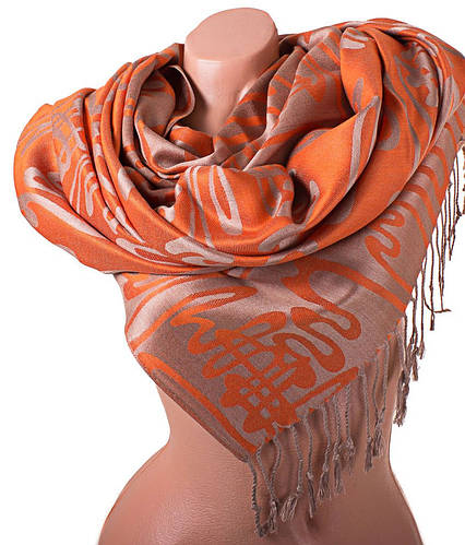 Прекрасный женский двусторонний палантин из пашмины 176 на 72 см ETERNO (ЭТЕРНО) ES0406-9-10 бежевый