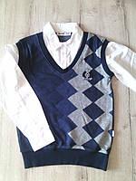 Школьная кофта обманка для мальчика 11619 Турция Wanex