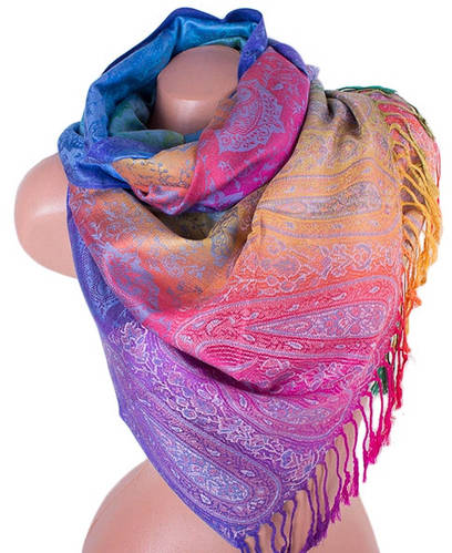 Оригинальный женский двусторонний палантин из пашмины 177 на 69 см ETERNO (ЭТЕРНО) ES0206-22-3 разноцветный