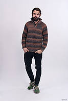 Вязаный мужской свитер с высоким воротником