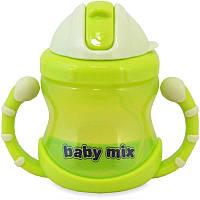 Детская поилка-непроливайка Baby Mix GLT-C005, зеленый
