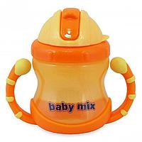 Детская поилка-непроливайка Baby Mix GLT-C005, оранж