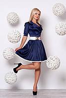 Стильное молодежное женское платье с поясом р.42,44,46,48,50,52