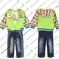 Костюм для мальчика с джинсовыми Брюками и Курткой с капюшоном от 1 до 4 лет (806)