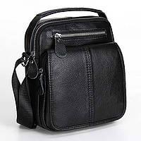 Мужская кожаная сумка-барсетка из натуральной кожи.