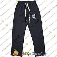 Турецкие тёмно синие спортивные штаны для подростков от 10 до 16 лет (4075-2)