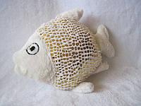 Декоративная интерьерная подушка игрушка рыба ручная работа