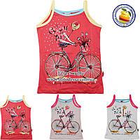 Детские майки с велосипедом Возраст: от 5 до 8 лет (4340)