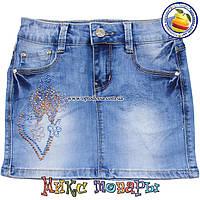 Летние юбки из джинсовой ткани для девочек от 6 до 10 лет пр- во Фабричный Китай(4419)