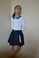 Блузка на девочку в школу вышетый воротник116-146