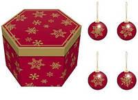 Новогодние игрушки. Набор елочных шаров ANGEL GIFTS HK827