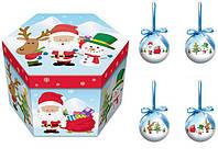 Новогодние игрушки. Набор елочных шаров ANGEL GIFTS