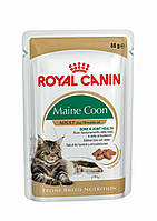 Royal Canin Maine Coon (кусочки в соусе)  85г*12шт-паучи для котов