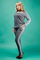 Модный женский спортивный костюм №1582 (джинс)
