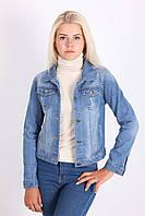 Джинсовая курточка с надписями на спине, фото 1