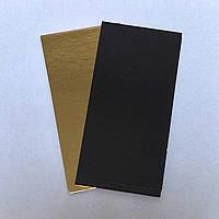 Подложка  прямоугольная золото\черное 14х7 cm (код 05089)