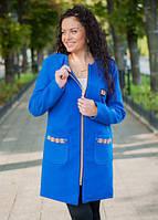 Пальто женское на молнии полу батал, фото 1