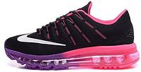 Женские кроссовки Nike Air Max 2016 (найк аир макс 2016) черные