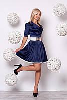 Оригинальное платье с поясом