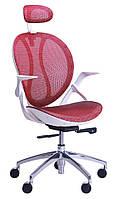 Кресло Lotus HR белый (сетка красная)