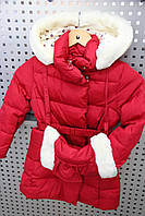 Куртка для девочки зимняя SNOWIMAGE SICBY-g611 Красный