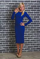 Платье женское футляр электрик, фото 1