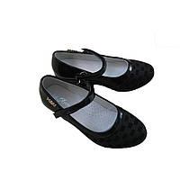 Школьные туфли для девочки на танкетке