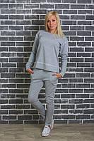 Спортивный женский костюм светло-серый, фото 1