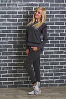Спортивный женский костюм темно-серый, фото 1