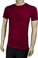 Мужская футболка Polo. Бордовая. Турция
