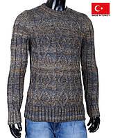 Очень теплый вязанный свитерок на подростка-мальчика.