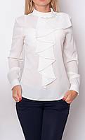 """Блузка женская большого размера """"Белый жемчуг"""""""