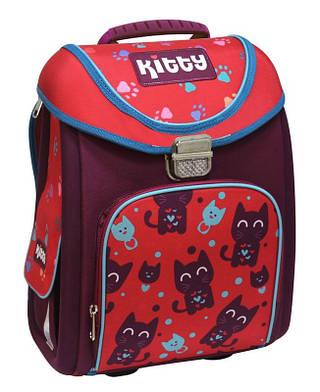 """Чудесный школьный рюкзак-трансформер 14"""" для девочки """"Kitty"""" Cool for school (CF85655) красный/фиолет"""