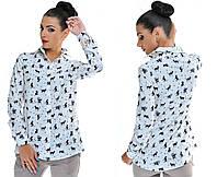 Рубашка женская коты