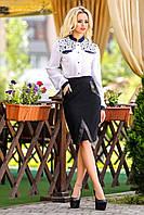 Классическая универсальная юбка-карандаш черного цвета