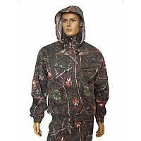 Камуфляжный костюм для охоты и рыбалки темный дуб с капюшоном