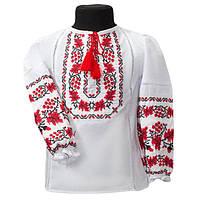 Праздичная вышиванка для девочки из турецкой рубашечной ткани