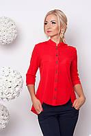 Женская блузка из креп-шифона №371 (красный)
