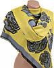 Необычный женский кашемировый палантин размером 70*200 см Подиум 32061 yellow (желтый с голубым)