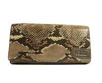 Кошелек женский кожаный Mario Veronni 153-571 темно-коричневый, змея, классический