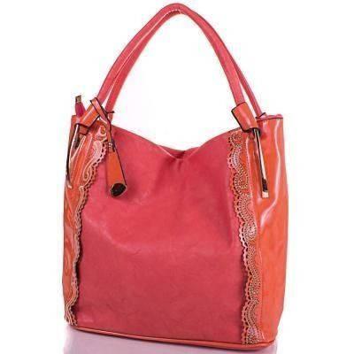 Оранжевая женская сумка из качественного кожезаменителя ANNA&LI (АННА И ЛИ) TUAL0488-8