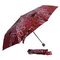 Зонт красный с цветами 03S-04