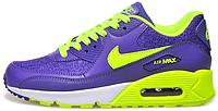 Женские кроссовки Nike Air Max 90 Premium (найк аир макс 90) фиолетовые