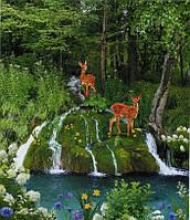 Фотообои из бумаги для стен 201*242 см , 15 листов, Пейзажи, Животные, Волшебный Источник